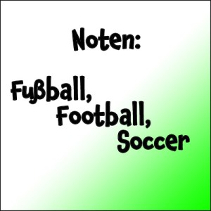 Fußball, Football, Soccer (Noten)